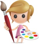 Simple Little Girl Vector 3D Cartoon Character AKA Ellie Babylicious - Artist