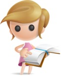 Simple Little Girl Vector 3D Cartoon Character AKA Ellie Babylicious - Book 1