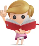 Simple Little Girl Vector 3D Cartoon Character AKA Ellie Babylicious - Book 2