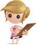 Simple Little Girl Vector 3D Cartoon Character AKA Ellie Babylicious - Notepad 1