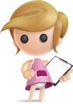 Simple Little Girl Vector 3D Cartoon Character AKA Ellie Babylicious - Notepad 2