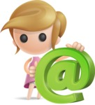 Simple Little Girl Vector 3D Cartoon Character AKA Ellie Babylicious - Email