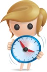 Simple Little Girl Vector 3D Cartoon Character AKA Ellie Babylicious - Time is Yours