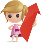 Simple Little Girl Vector 3D Cartoon Character AKA Ellie Babylicious - Arrow 1