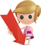 Simple Little Girl Vector 3D Cartoon Character AKA Ellie Babylicious - Arrow 3