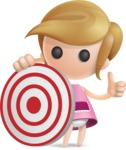 Simple Little Girl Vector 3D Cartoon Character AKA Ellie Babylicious - Target