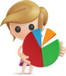 Simple Little Girl Vector 3D Cartoon Character AKA Ellie Babylicious - Chart