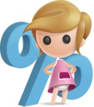 Simple Little Girl Vector 3D Cartoon Character AKA Ellie Babylicious - Percent