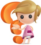 Simple Little Girl Vector 3D Cartoon Character AKA Ellie Babylicious - Question