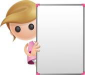 Simple Little Girl Vector 3D Cartoon Character AKA Ellie Babylicious - Presentation 4