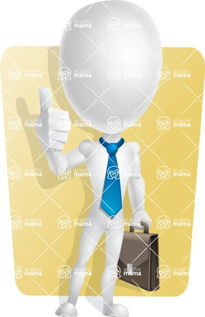 Vector 3D Man Model Cartoon Character AKA Maddox - Shape6