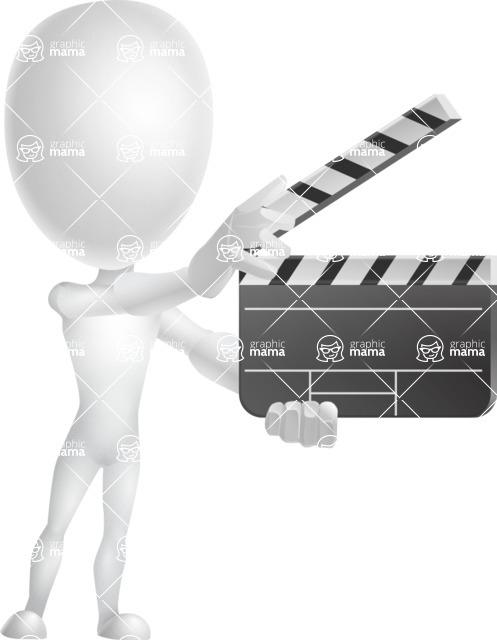 Vector 3D Man Model Cartoon Character AKA Maddox - Movie