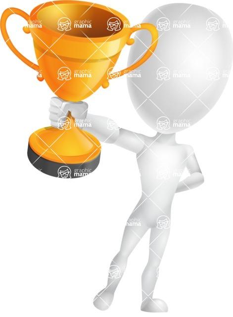 Vector 3D Man Model Cartoon Character AKA Maddox - Gold Cup