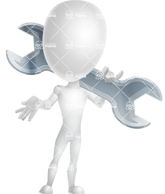 Vector 3D Man Model Cartoon Character AKA Maddox - Repair