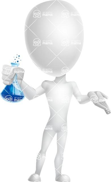 Vector 3D Man Model Cartoon Character AKA Maddox - Flask