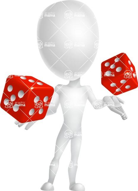 Vector 3D Man Model Cartoon Character AKA Maddox - Lucky