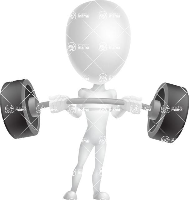 Vector 3D Man Model Cartoon Character AKA Maddox - Strong