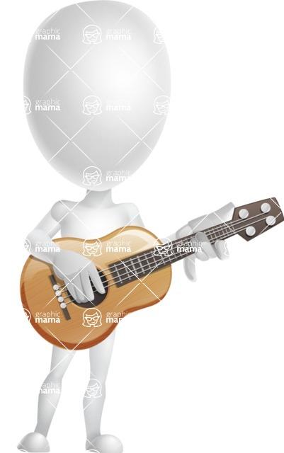 Vector 3D Man Model Cartoon Character AKA Maddox - Guitar