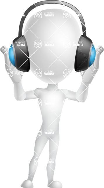 Vector 3D Man Model Cartoon Character AKA Maddox - Music