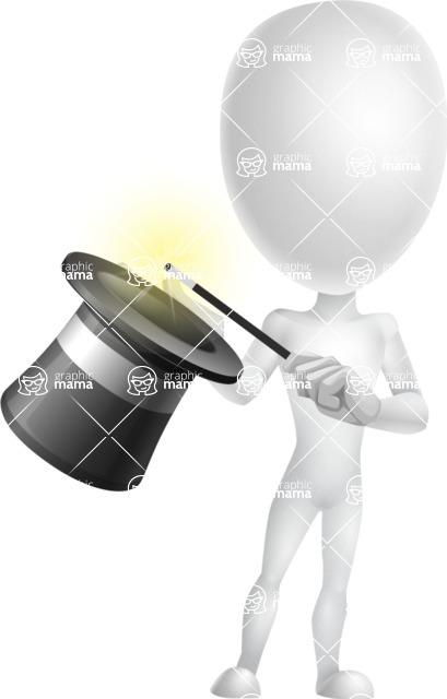 Vector 3D Man Model Cartoon Character AKA Maddox - Abracadabra