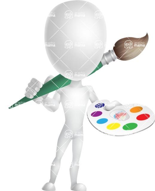 Vector 3D Man Model Cartoon Character AKA Maddox - Artist