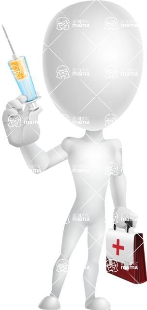 Vector 3D Man Model Cartoon Character AKA Maddox - Doctor