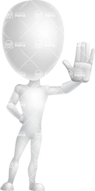 Vector 3D Man Model Cartoon Character AKA Maddox - Wave