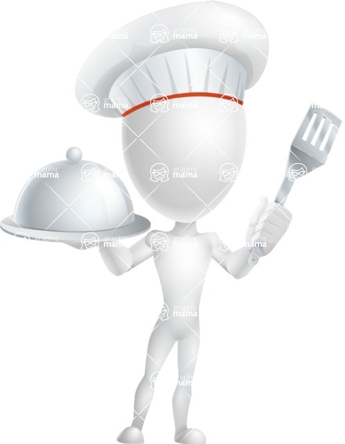 Vector 3D Man Model Cartoon Character AKA Maddox - Chef