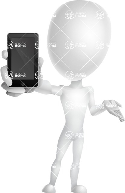 Vector 3D Man Model Cartoon Character AKA Maddox - iPhone