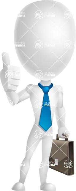 Vector 3D Man Model Cartoon Character AKA Maddox - Businessman