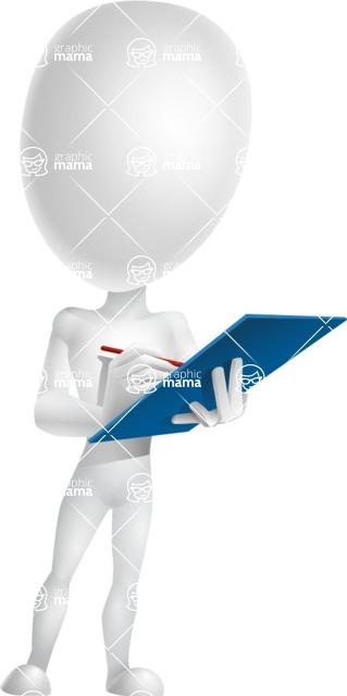 Vector 3D Man Model Cartoon Character AKA Maddox - Notepad 1