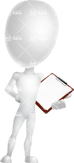Vector 3D Man Model Cartoon Character AKA Maddox - Notepad 2