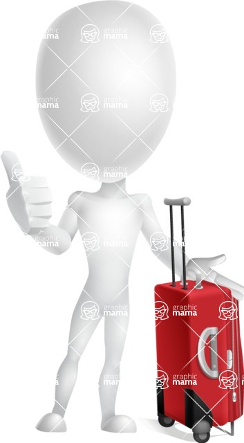 Vector 3D Man Model Cartoon Character AKA Maddox - Travel
