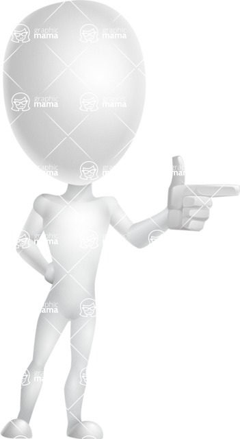 Vector 3D Man Model Cartoon Character AKA Maddox - Point