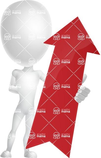 Vector 3D Man Model Cartoon Character AKA Maddox - Arrow 1