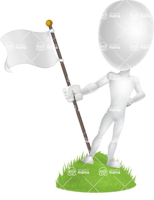 Vector 3D Man Model Cartoon Character AKA Maddox - On Top
