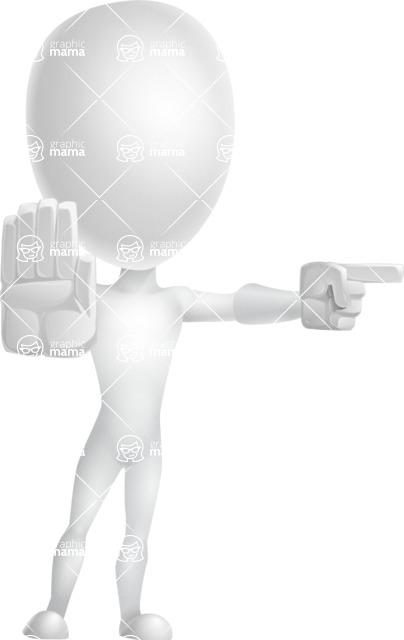 Vector 3D Man Model Cartoon Character AKA Maddox - Direct Attention