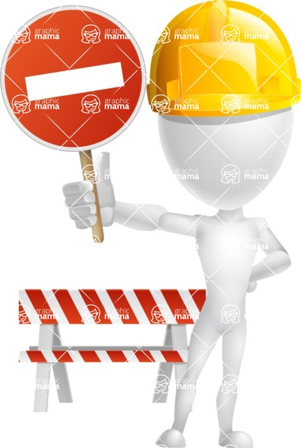 Vector 3D Man Model Cartoon Character AKA Maddox - Under Construction