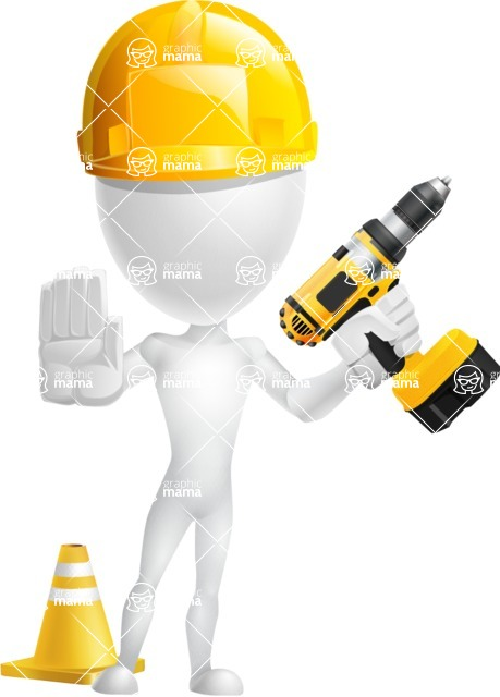 Vector 3D Man Model Cartoon Character AKA Maddox - Under Construction 2