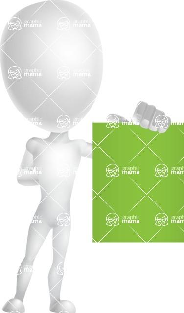 Vector 3D Man Model Cartoon Character AKA Maddox - Sign 3