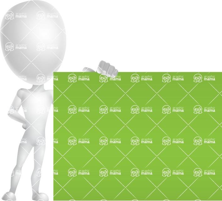 Vector 3D Man Model Cartoon Character AKA Maddox - Sign 8