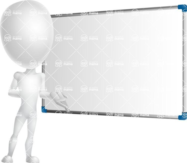 Vector 3D Man Model Cartoon Character AKA Maddox - Presentation 3
