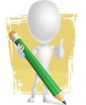Vector 3D Man Model Cartoon Character AKA Maddox - Shape11
