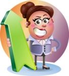 Clay Business Woman Cartoon Vector Character AKA Ruth O'Truth - Shape 8