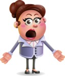 Clay Business Woman Cartoon Vector Character AKA Ruth O'Truth - Stunned