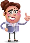 Clay Business Woman Cartoon Vector Character AKA Ruth O'Truth - Attention