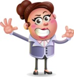 Clay Business Woman Cartoon Vector Character AKA Ruth O'Truth - Hello