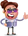 Clay Business Woman Cartoon Vector Character AKA Ruth O'Truth - Sunglasses
