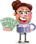 Clay Business Woman Cartoon Vector Character AKA Ruth O'Truth - Show me  the Money