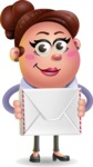 Clay Business Woman Cartoon Vector Character AKA Ruth O'Truth - Letter